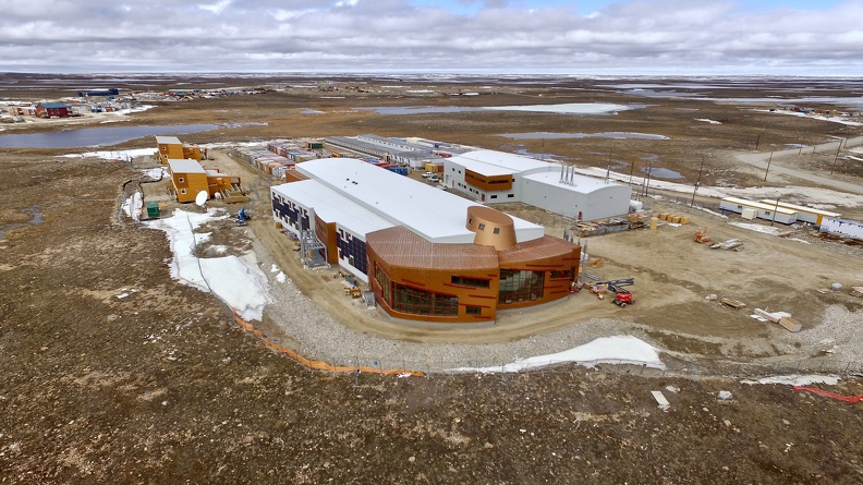 Aerial view of the CHARS campus, Cambridge Bay, Nunavut, June 2017_credit POLAR.jpg