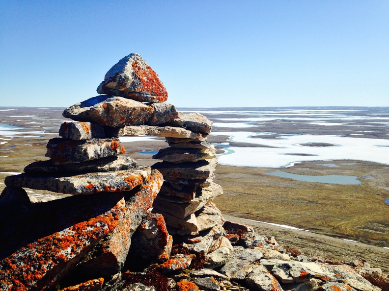 Inukshuk on Mount Pelly, Cambridge Bay, Nunavut_unknown.jpg