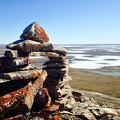 Inukshuk on Mount Pelly / Inuksuk au mont Pelly