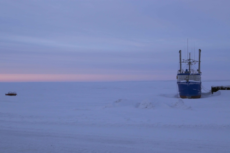 MV Martin Bergmann on snow, Cambridge Bay outskirts, March 2013_credit Donald McLennan.jpg